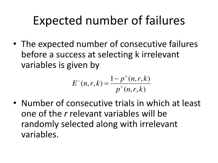 Expected number of failures