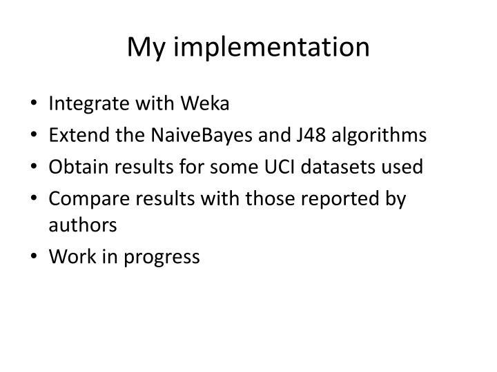 My implementation