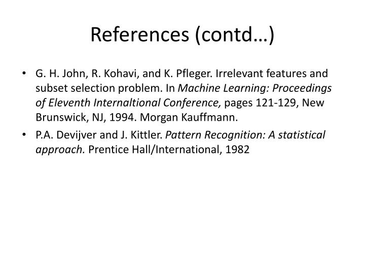 References (contd…)