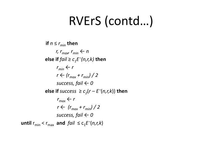 RVErS (contd…)