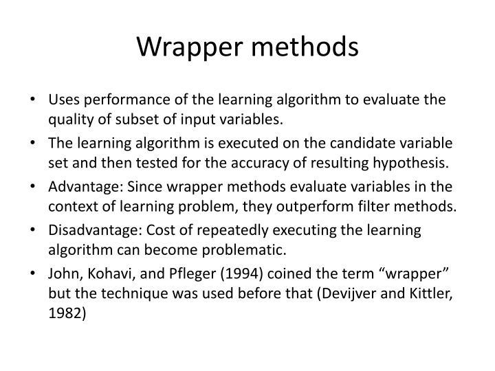 Wrapper methods