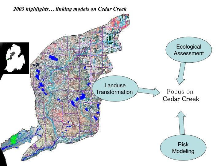 2003 highlights… linking models on Cedar Creek