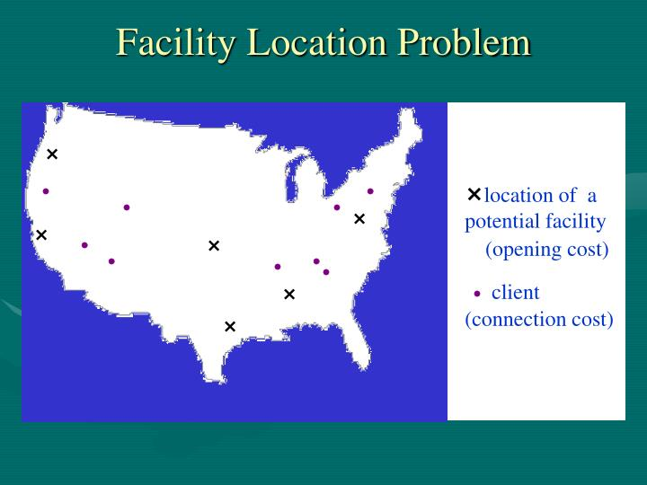 Facility location problem1