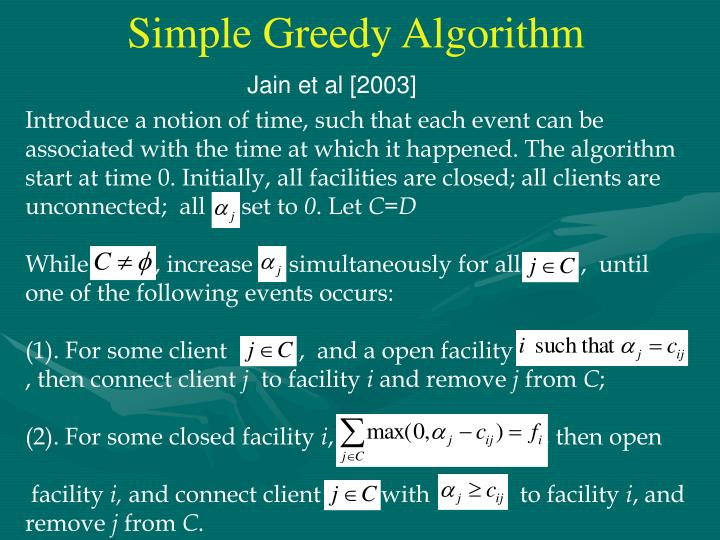 Simple Greedy Algorithm