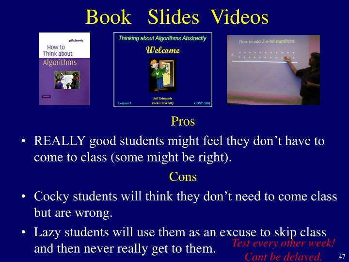 Book   Slides  Videos