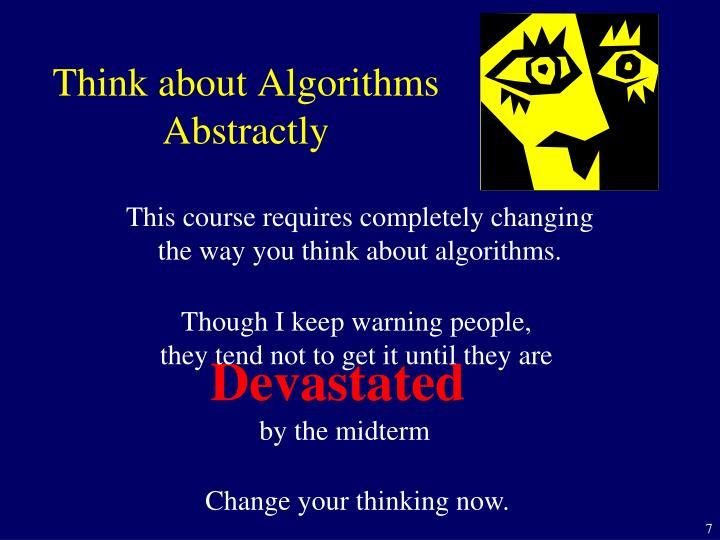 Think about Algorithms