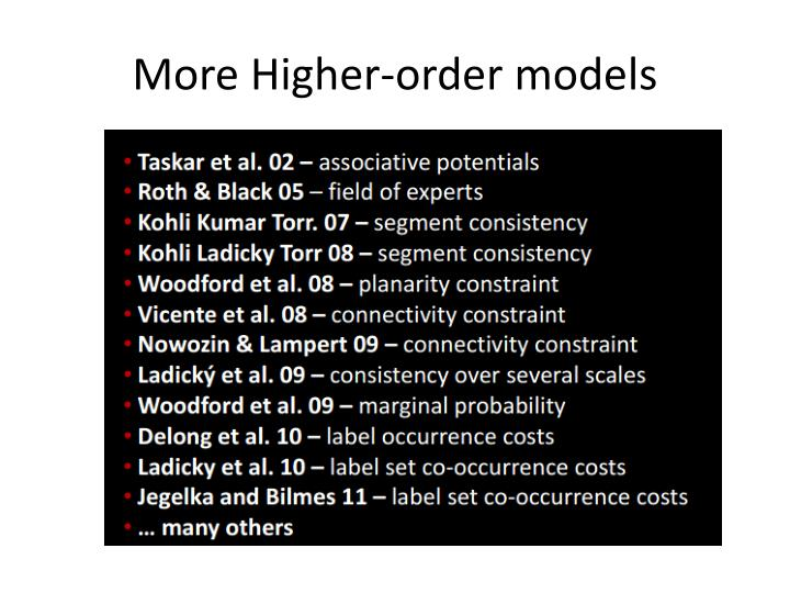 More Higher-order models
