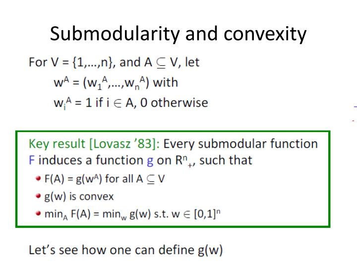 Submodularity and convexity