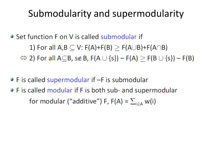 Submodularity