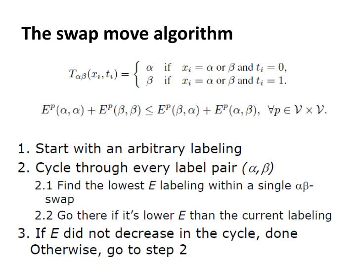 The swap move algorithm