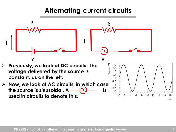 Alternating current circuits