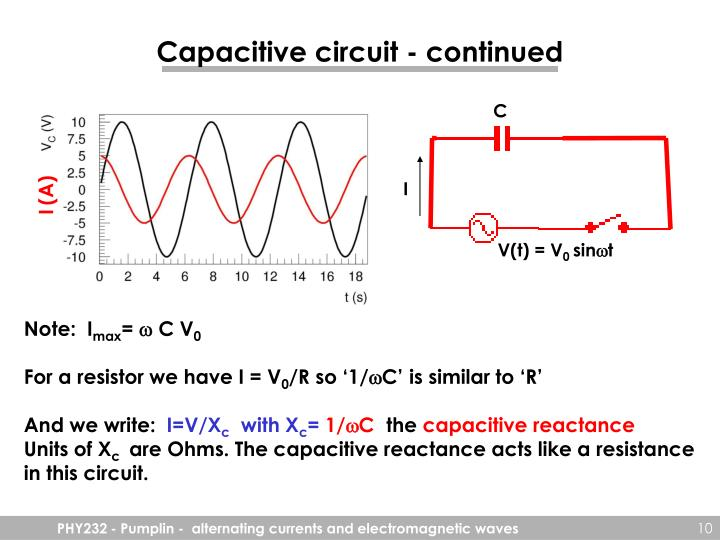 Capacitive circuit - continued