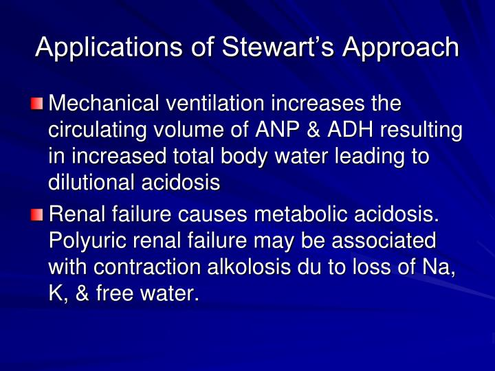Applications of Stewart's Approach