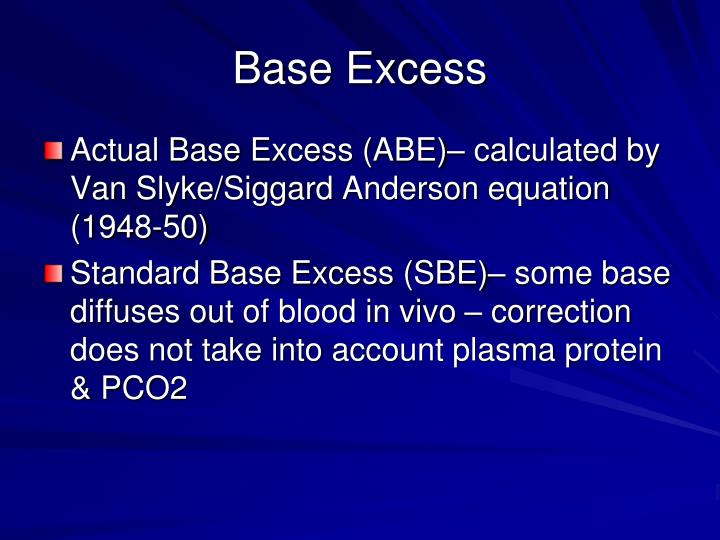 Base Excess