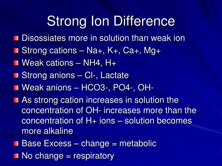 Strong Ion Difference