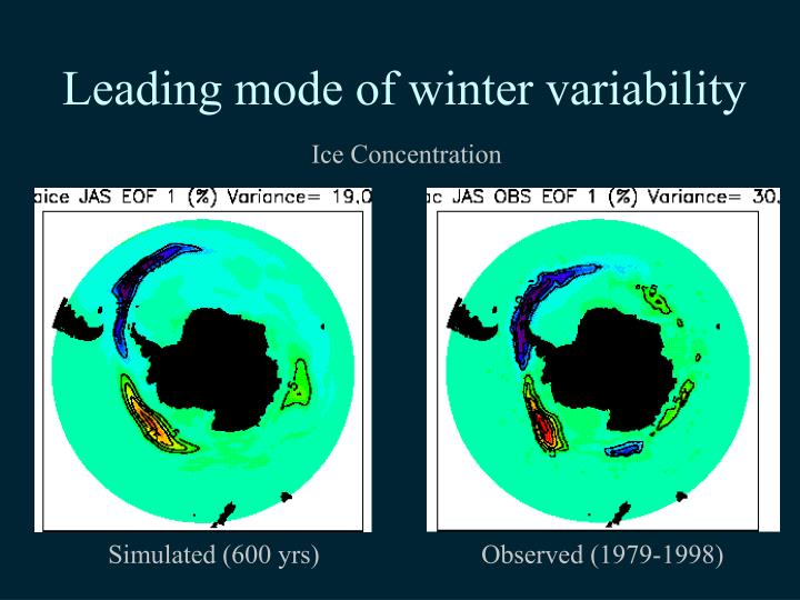 Leading mode of winter variability