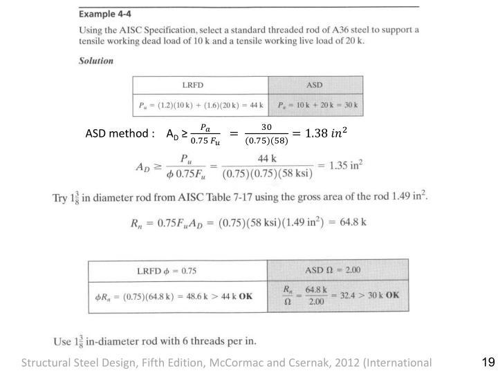 ASD method :    A