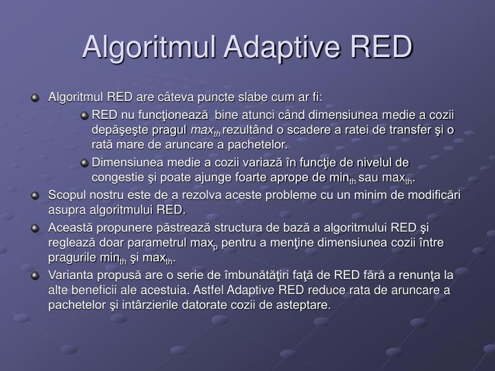 Algoritmul Adaptive RED