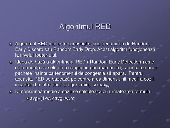 Algoritmul RED