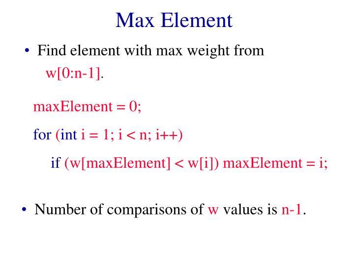 Max Element