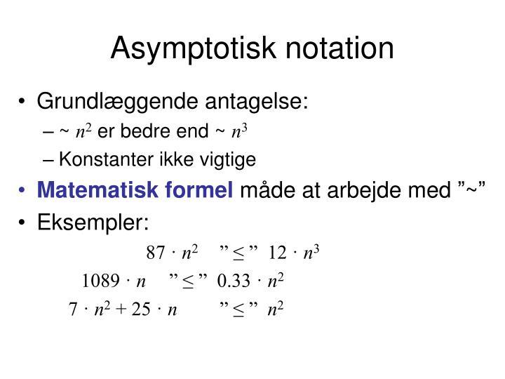 Asymptotisk notation