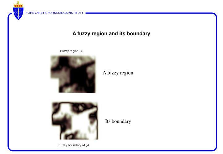 A fuzzy region and its boundary