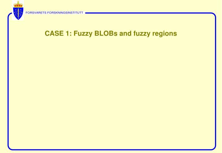 CASE 1: Fuzzy BLOBs and fuzzy regions