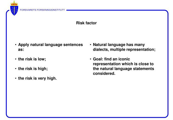 Apply natural language sentences as: