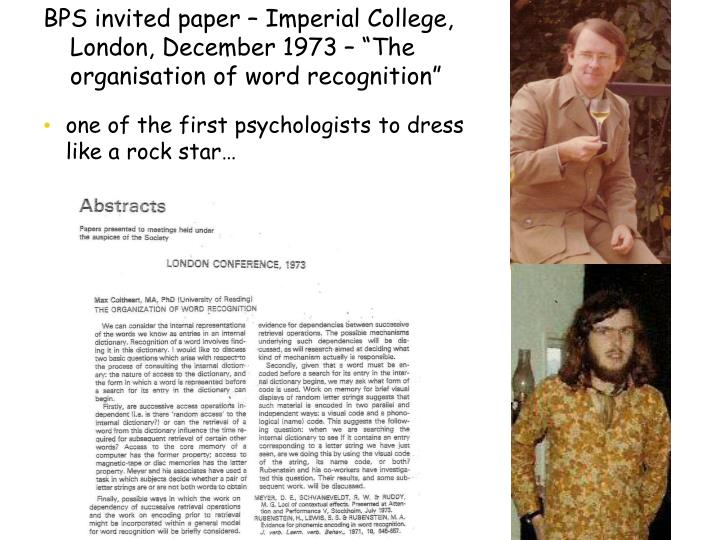 one of the first psychologists to dress like a rock star…
