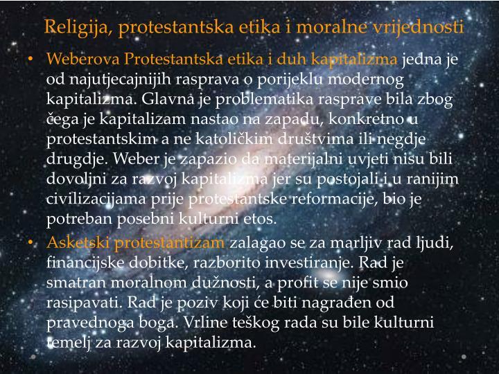 Religija, protestantska etika i moralne vrijednosti