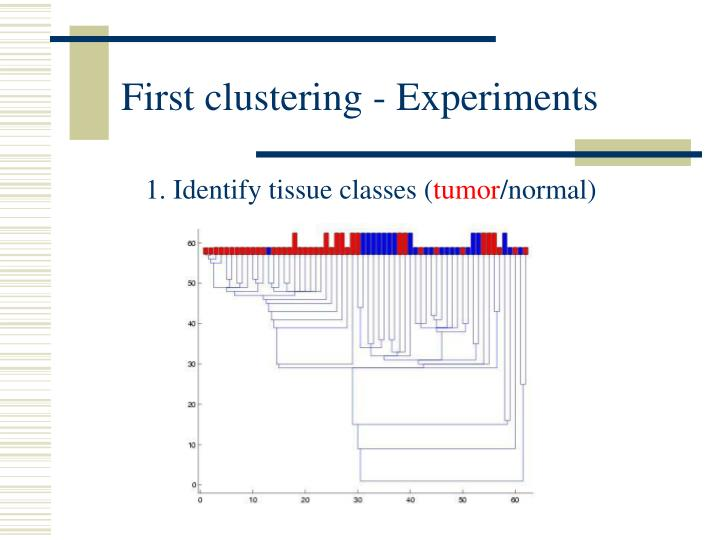 First clustering - Experiments