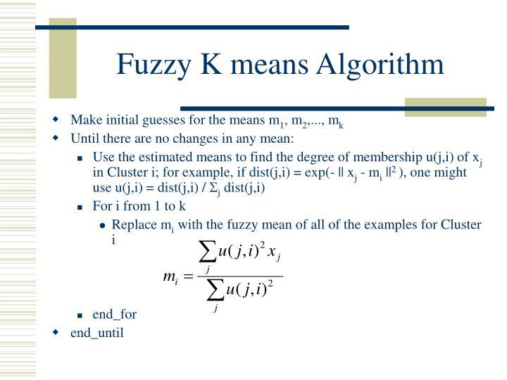 Fuzzy K means Algorithm