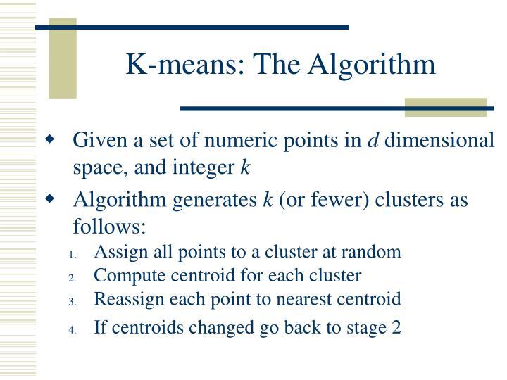 K-means: The Algorithm