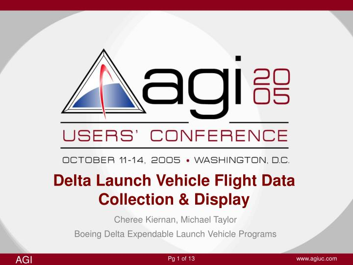 Delta launch vehicle flight data collection display