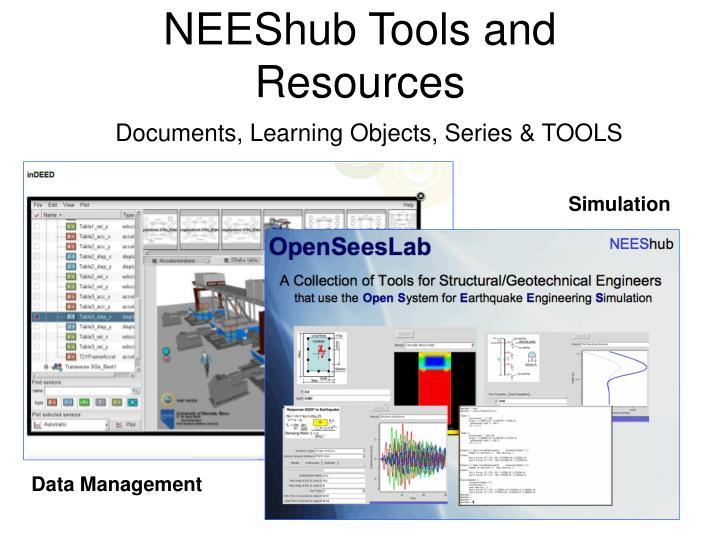 NEEShub Tools and Resources