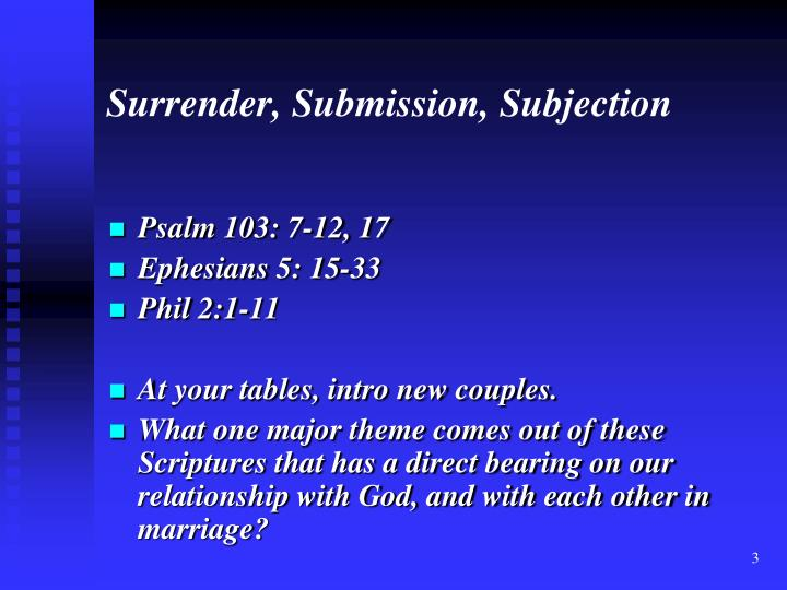 Surrender submission subjection