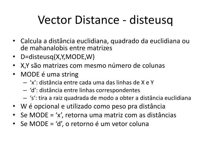 Vector Distance - disteusq