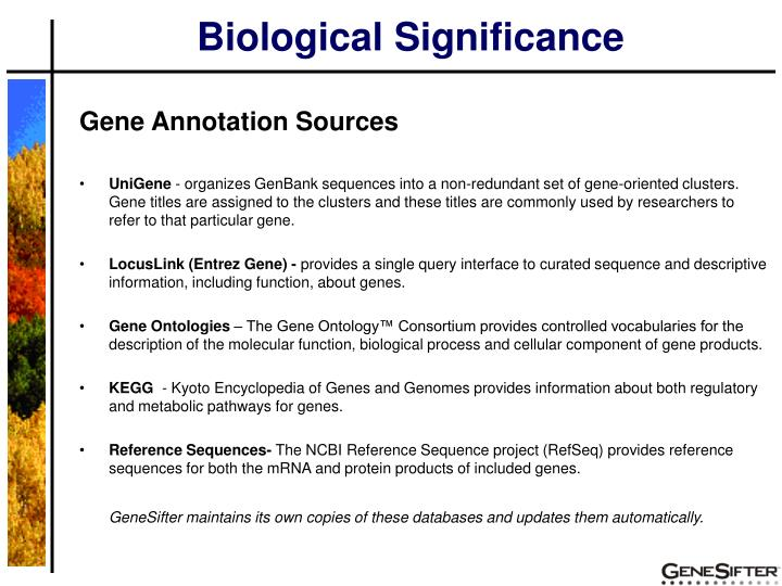 Biological Significance