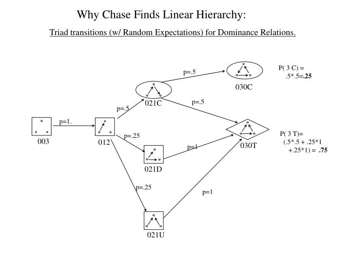 Why Chase Finds Linear Hierarchy: