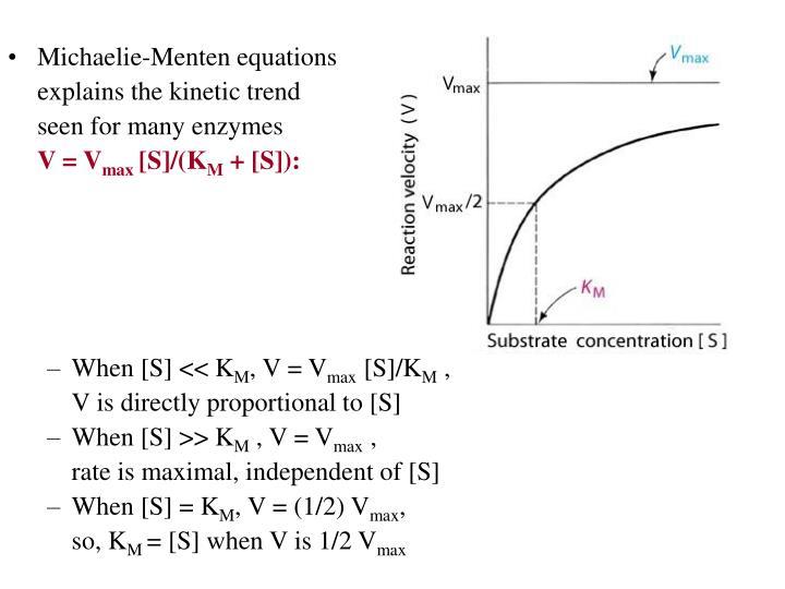 Michaelie-Menten equations
