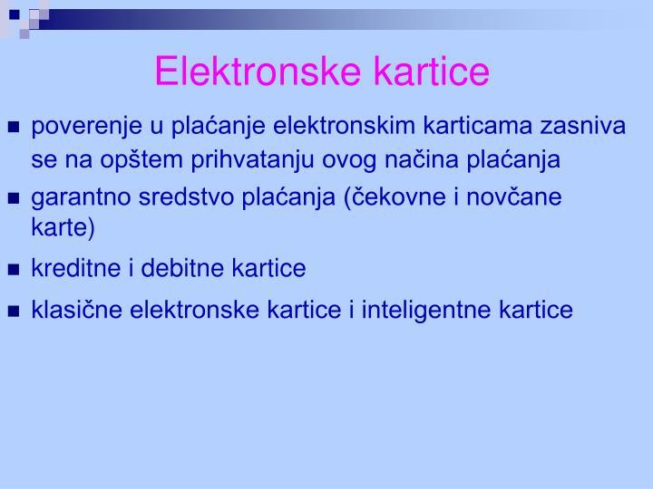 Elektronske kartice