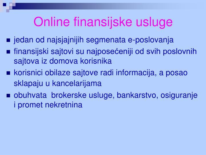 Online finansijske usluge