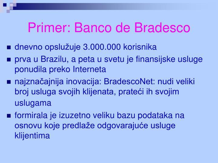 Primer: Banco de Bradesco