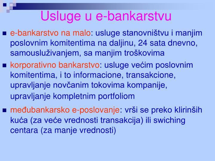 Usluge u e-bankarstvu