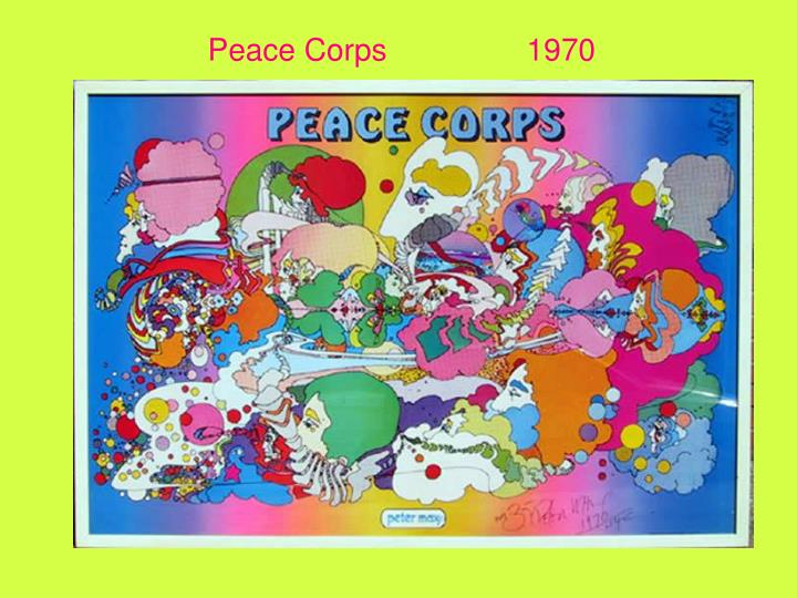Peace Corps		1970