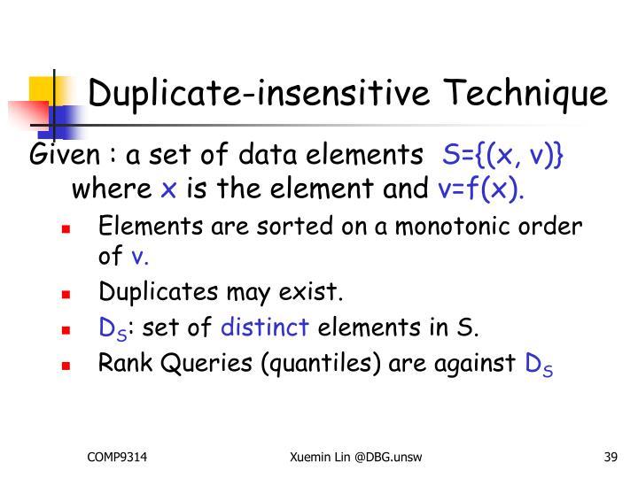 Duplicate-insensitive Technique