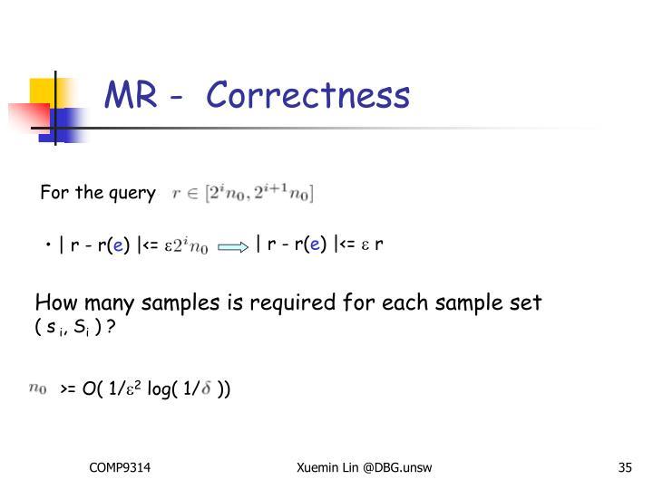 MR -  Correctness