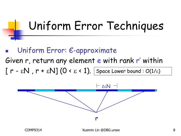 Uniform Error Techniques