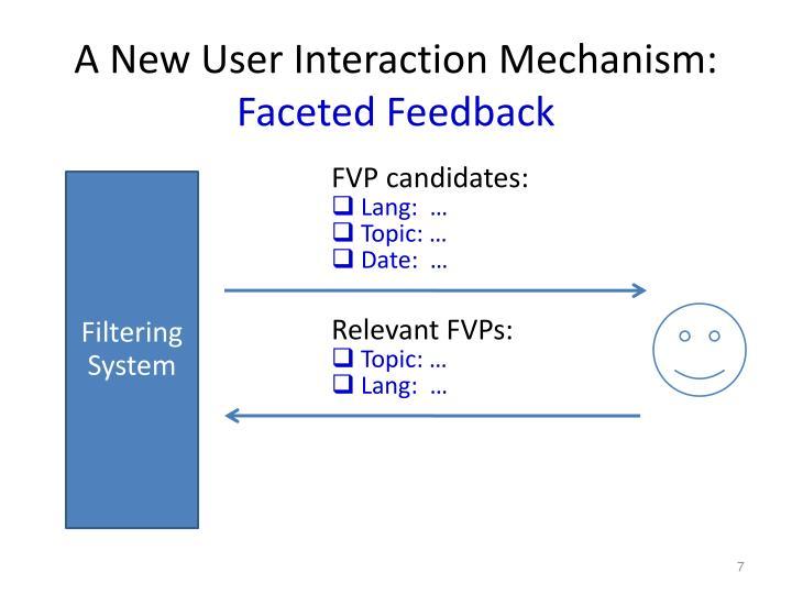 A New User Interaction Mechanism: