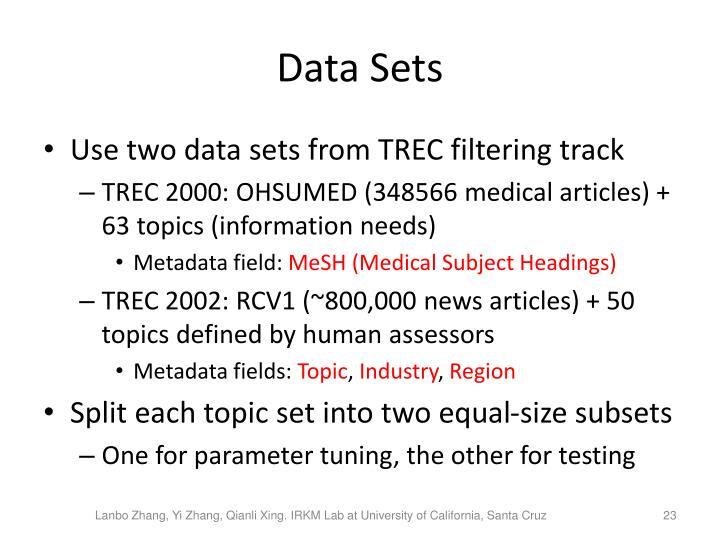 Data Sets